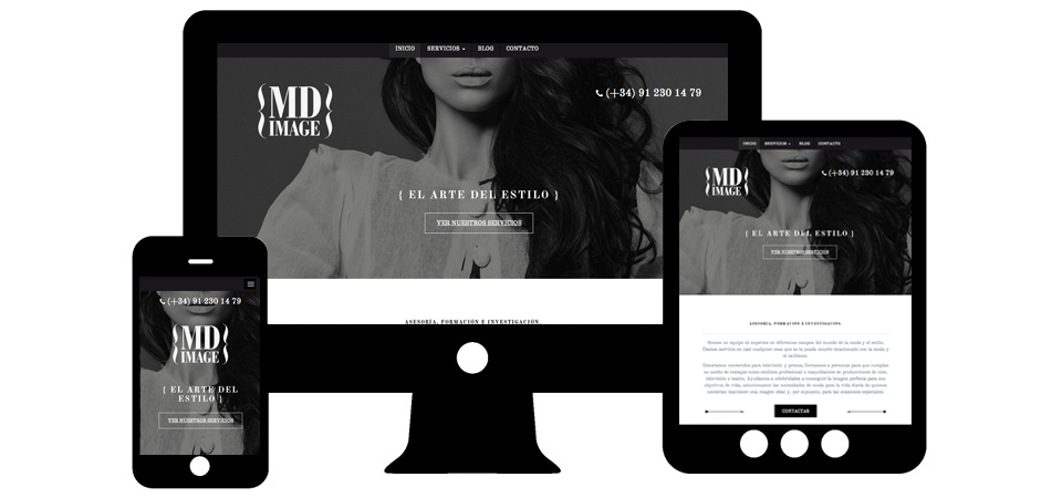 md image web responsive